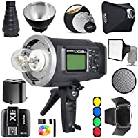 Godox AD600BM Bowens Mount 600Ws GN87 1/8000 HSS Outdoor Flash Strobe Monolight with X1S Wireless Trigger for Sony Camera / 32X32Softbox/ Standard Reflector and Grid/Barn Door/ Large Snoot