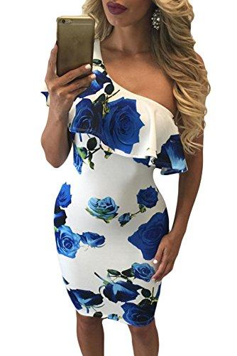 shelovesclothing - Vestido - Sin mangas - para mujer Azul