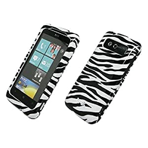 Empire Negro and Blanco Zebra Stripes Diseño dura Case Funda Carcasa Cover for HTC Trophy T8686