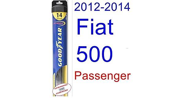 2012 - 2014 Fiat 500 hoja de limpiaparabrisas de repuesto Set/Kit (Goodyear limpiaparabrisas blades-hybrid) (2013): Amazon.es: Coche y moto