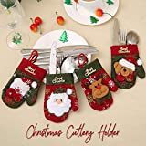 Christmas Table Decorations, 4 Pack Silverware