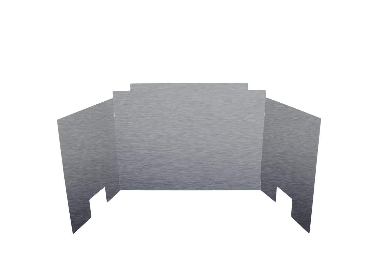 RH Peterson Co Contemporary Three Panel Satin Stainless Steel Fyreback 24 inch