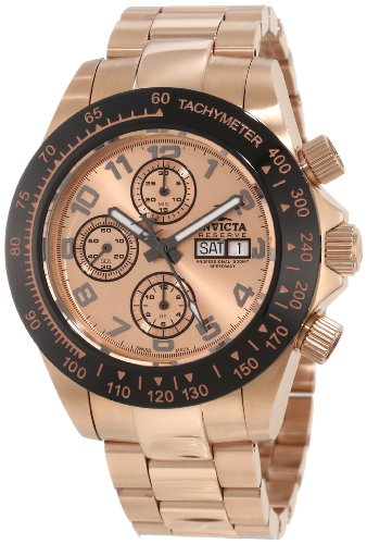 Gold Speedway Rose (Invicta Men's 10938 Speedway Automatic Chronograph Rose Dial Watch)