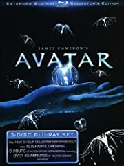 Experience the spectacular world of James Cameron's Avatar as never before with this all-new three-disc extended collector's edition. The journey begins with three movie versions: the original theatrical release, the special edition re-releas...