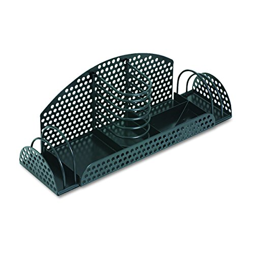Fellowes 22326 Perf-Ect Multi Desk Organizer, Metal/Wire, 12 7/8 x 4 x 4 3/4, Black