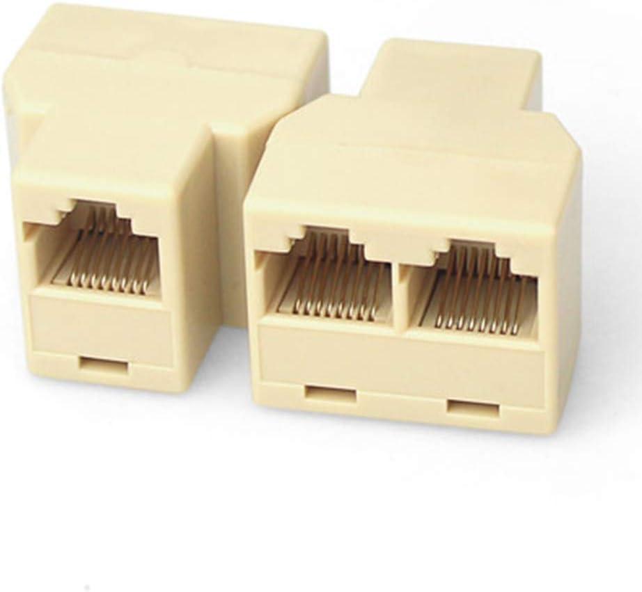 Cable Length: Other Cables /& Connectors 10pcs//lot RJ45 CAT 5 6 LAN Ethernet Splitter Connector Adapter PC RJ45 Splitter Connector CAT5 Splitter Adapter Network Dual