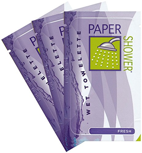 Paper Shower - Fresh (Wet Towelette Only) 10 Individual Body Wipe Packs New On Sale