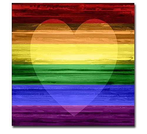 Rainbow Heart by Maggie Olsen Premium Gallery-Wrapped Canvas Giclee Art (Ready-to-Hang)