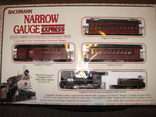 Bachmann Narrow Gauge Express Passenger Train Set - Pennsylvania Railroad ~ Cars and Spectrum Pack ONLY!!! NO Tracks or Training Video