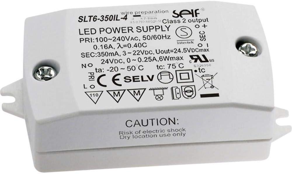 Self Electronics SLT6-350IL-4 LED-Treiber Konstantstrom 7.7W 350mA 3-22 V//DC Montage en entflammb