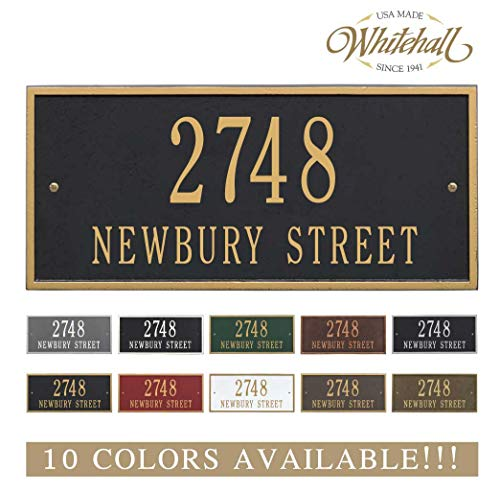 - Metal Address Plaque Personalized Cast The Hartford Plaque. Display Your Address and Street Name. Custom House Number Sign.