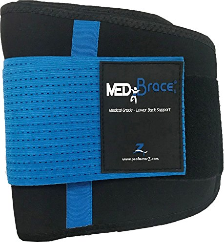 Back Support Brace, Lower Lumbar Belt MEDiBrace II (Medical Grade) Pain & Discomfort Relief from Sciatica, Backache, Slipped Disc, Hernia, Spinal Stenosis, Spine Injury Prevention | Posture Corset by ProfessorZ (Image #4)