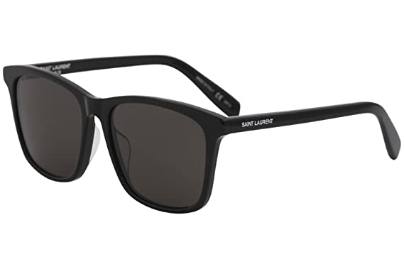 1235f39a248 Saint Laurent Havana Square Sunglasses at Amazon Women's Clothing store: