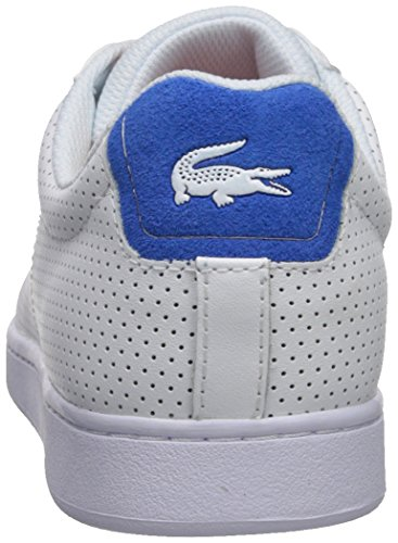 Lacoste Mens Carnaby EVO Sneaker White/Blue Perforated 1zbZosN
