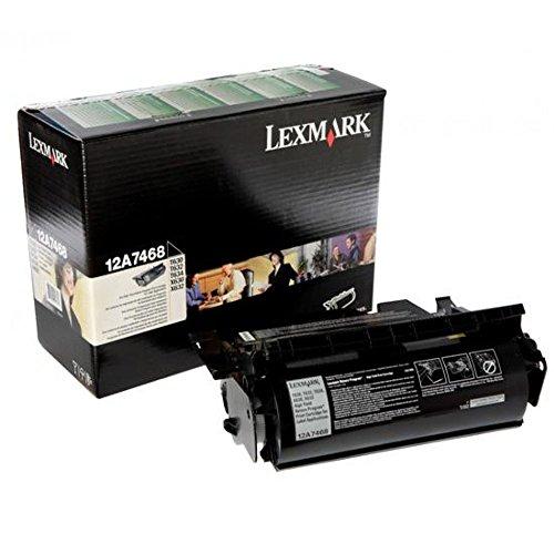 - Lexmark 12A7468 Black OEM Toner High Yield (21,000 Yield)
