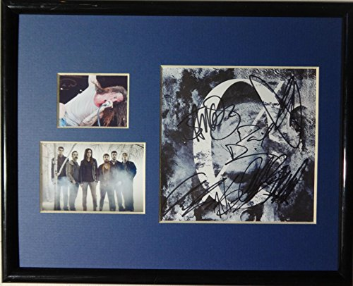 Signed Underoath Cd Cover Matted with Pictures in Nice Glass 8x10 - Cd Glasses Frame