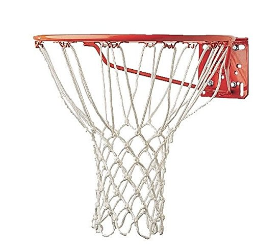 Champion Sports Professional Non-Whip Basketball Net, White, 6mm (Model 416)