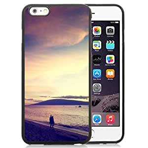 NEW Unique Custom Designed iPhone 6 Plus 5.5 Inch Phone Case With Walk At The Beach Sunset_Black Phone Case