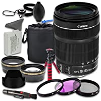 Canon EOS Rebel T5i DSLR Camera Accessories Kit with Canon EF-S 18-135mm f/3.5-5.6 IS STM Lens + 2.2x Telephoto Lens + 0.43x Wideangle Lens + Lens Bag + Extra Battery + 3 PC Filter Kit + Tripod