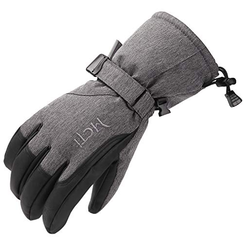 Fitself Waterproof Winter Mens Gloves Snowboard Ski PU Leather 3M Thinsulate Insulation Warm Cold Weather Gloves