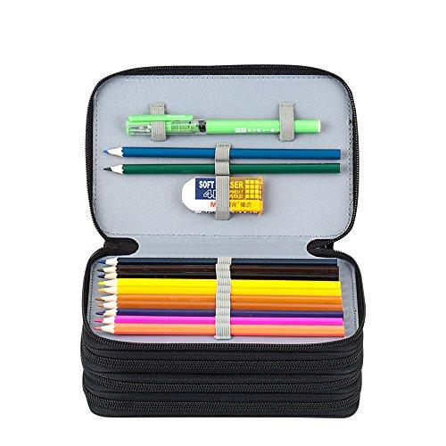 Kaleidoario Pencil Bag, Large Pen Organizer Case Colored Pen