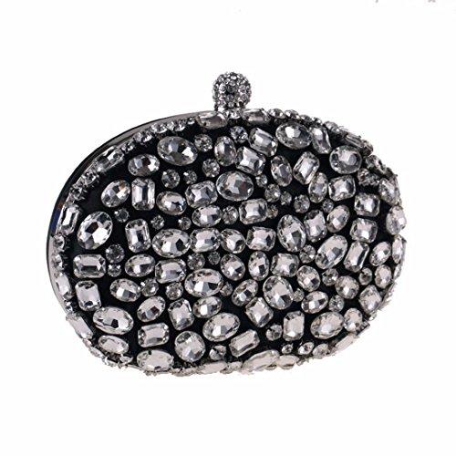 Bolso Black Diamante Noche Embrague Las Del Acrílico Mujeres De Monedero Fubulecy vExwSR0qdv