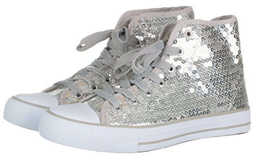 brandsseller Women's Low-Top Sneakers Silver ZDWPTZcaW