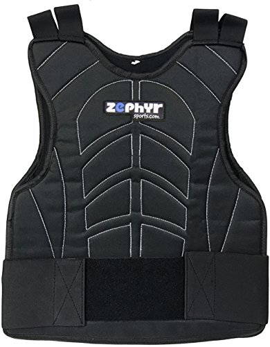 Zephyr Padded Paintball Airsoft Chest Protector (Stealth Black)