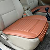 Car Seat Cushion,Hmane PU Leather Bamboo Charcoal Breathable Comfortable Car Seat Cover for Auto Car Supply--Reddish Orange