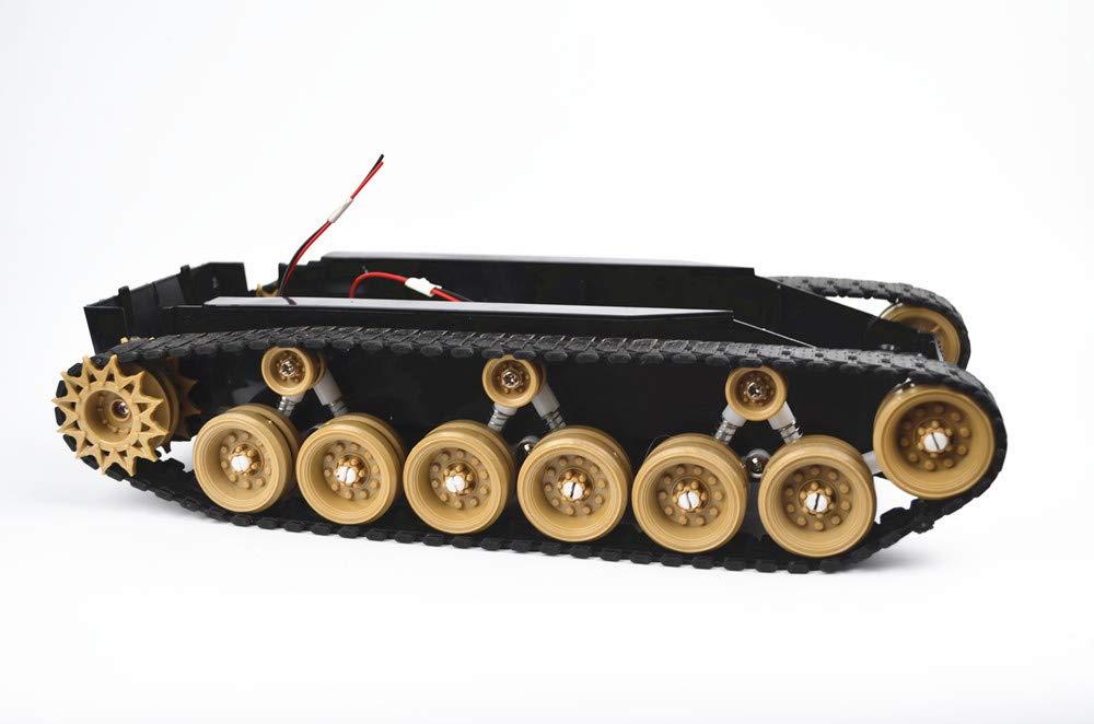 B07GSQXG68 Damping Balance Tank Robot Chassis Platform high Power Remote Control DIY crawle Shock Absorption SINONING for Arduino (Yellow) 51ws9Z6QemL