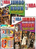 NBA Basketball Jumbo Coloring and Activity Book Set with Twist-up Crayons