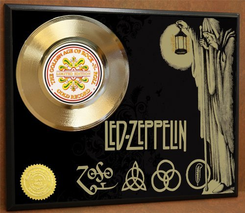 Gold Record Ltd Edition (Led Zeppelin Limited Edition Poster Art Gold Record Music Memorabilia Display)