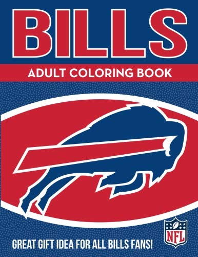 NFL Buffalo Bills Adult Coloring Booknfl Adult Coloring Book, Blue, White, 96 Coloring Pages