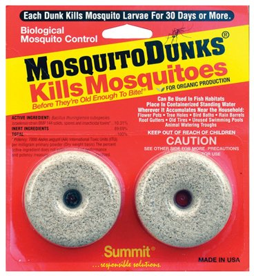 Summit Chemical 102-12 Mosquito Dunk, 2-Pk. - Quantity -