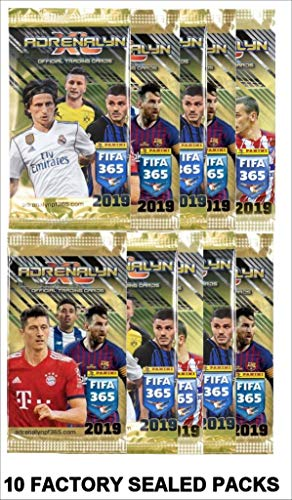 2019 Panini Adrenalyn XL TOP TEAMS FIFA 365 Soccer Cards. TEN (10) 6-Card Packs (60 Cards Total). Loaded With Stars!. Look for Stars Incl. Ronaldo, Messi, Neymar, Kane, Pulisic +++