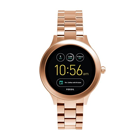 7eb563f14d Amazon.com: Fossil Q Women's Gen 3 Venture Stainless Steel Smartwatch,  Color: Rose Gold-Tone (Model: FTW6000): Watches
