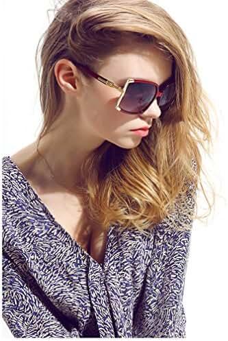 Newest Design Women's sunglasses UV Protection Oversized Square Sunglasses+case