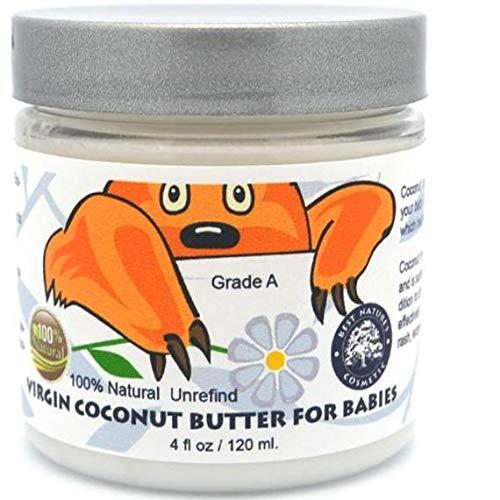 Coconut Butter for babies 120 ml / 4 (Best Naturals Coconut Oils)