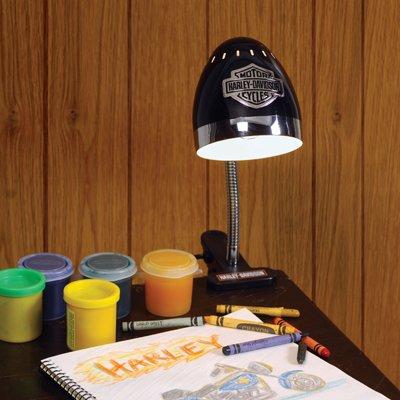 Harley davidson chrome black clip lamp desk lamps amazon harley davidson chrome black clip lamp mozeypictures Image collections