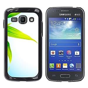 Las hojas de maíz - Metal de aluminio y de plástico duro Caja del teléfono - Negro - Samsung Galaxy Ace 3