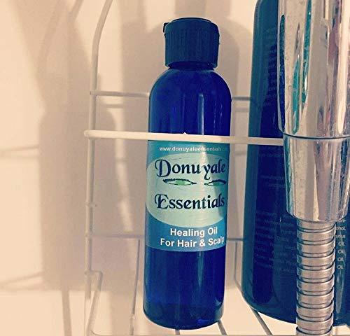 Healing Oil for Hair & Scalp, Vegan, 4oz, Organic Castor Oil Blend for Natural Hair Growth, Dandruff, Seborrheic Dermatitis, Eczema, Psoriasis, and Breakage