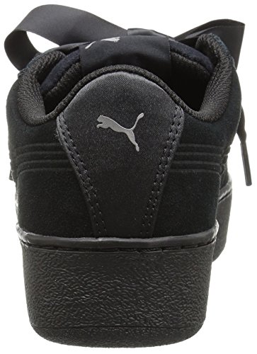 Kids Black Sneaker Trainers Platform Puma puma S 366418 Women 01 Black Leather Ribbon Vikky 707HA