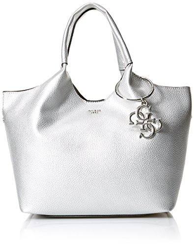 GUESS Flora Metallic Shopper Sil, Silver