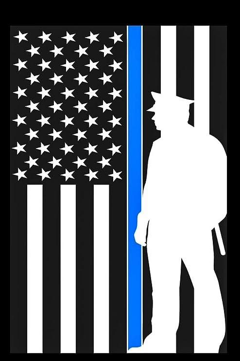 Flags Galore Bandera Americana de Sombra de policía Delgada con línea Azul – Bandera Decorativa de Doble Cara: Amazon.es: Jardín