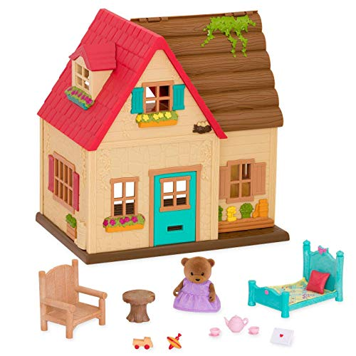 Li'l Woodzeez Animal Figurine Playset and Accessories - Countryside Cottage - 18 ()