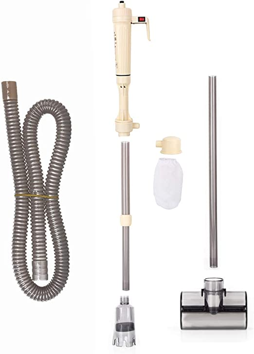 Limpiador Eléctrico Acuario, Filtro de Agua para Acuario Eléctrica Aspirador Lavadora de Arena con Filtro de Agua de Sifón al Vacío Alimentado por Batería: Amazon.es: Productos para mascotas
