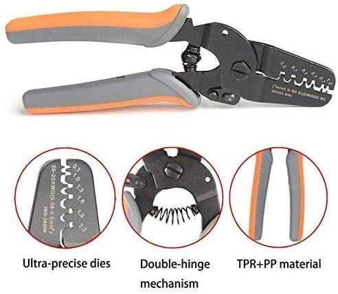 YYG-YYG プライヤーハンドツール、ミニプライヤーツールハンドストリッパー作品上のマイクロパワー・オープンバレルクリンパー ペンチ