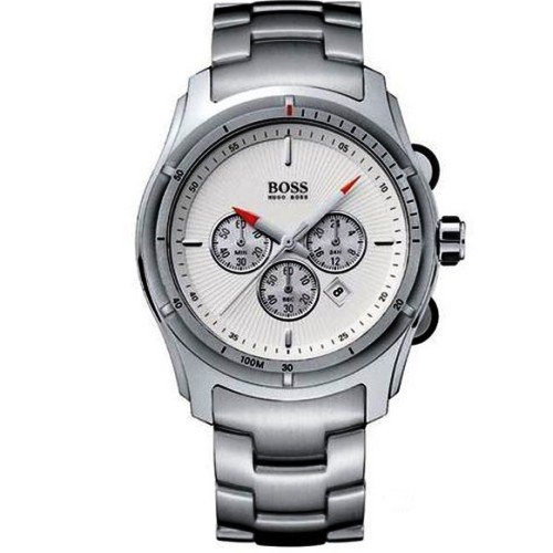 Hugo Boss Men's White Dial Chronograph Watch