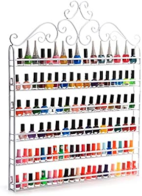 Pleasing Dazone Nail Polish Organizer Wall Rack Hold 120 Bottles Nail Polish Shelf White Interior Design Ideas Tzicisoteloinfo