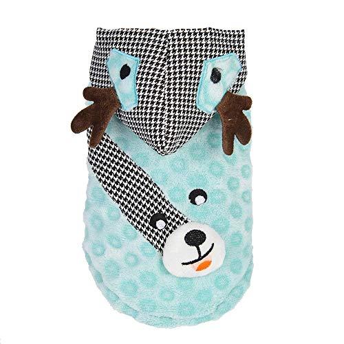 RSHSJCZZY Pet Costumes Puppy Elk Dress Up Coat Pet Dog Hoodie Sweater Winter Fleece Keep Warm Clothes]()